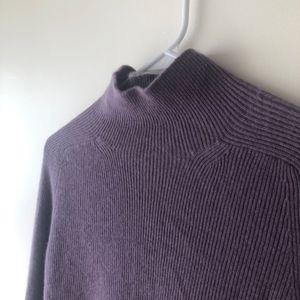 100% Cashmere Tahari Sweater Ribbed Medium Purple